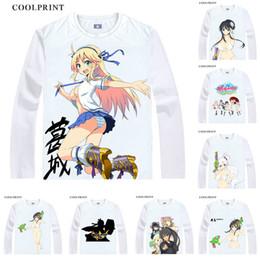 kagura cosplay Rabatt Senran Kagura T-Shirt Shinovi im Vergleich zu benutzerdefinierten Casual Cosplay T-Shirt Digital Vintage Print Langarm T-Shirts