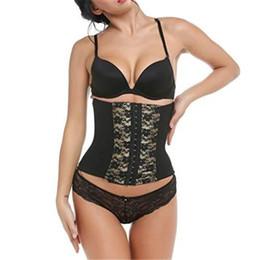 Formatori floreali online-Di alta qualità sexy donne shapers corsetto vita pizzo floreale trainer formazione shapers corpo shapewear underbust cincher tummy belt