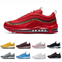 uk availability c6ba7 b77ce 2019 Bright Citron Red Leopard Nike Air Max 97 Uomo Scarpe da corsa Blue  Hero UNDEFEATED South BeachTriple bianco Nero trainer 97s sneakers sportive