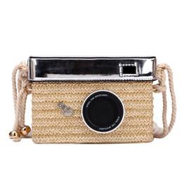 2019 супер маленькие камеры Фабрика оптом бренд женская сумка лето новый ins Super Fire камера тканая сумка уникальный стиль тканая пляжная сумка милый маленький свежий стиль сумка дешево супер маленькие камеры