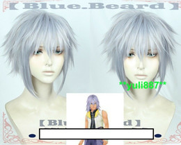 Parrucca cuore online-Kingdom Hearts III Riku Party Cosplay Wig