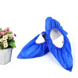100 soloDisposable Shoes Cover Anti-tessuto elastico non tessuto Home Foot Cover antiscivolo Addensare Copriscarpe monouso da