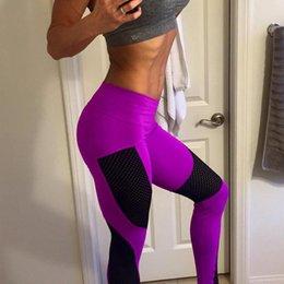2019 patchwork pantalones patrón mujeres 2019 Push Up Mesh Leggings Mujeres Tallas grandes Patrón de moda Patchwork Fitness Slim Leggings Casual Pantalones de entrenamiento de cintura alta 3XL patchwork pantalones patrón mujeres baratos