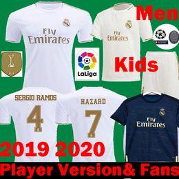 Canada 2019 2020 Real Madrid HAZARD Football Jerseys Joueur Joueurs de football 19 20 maillots RM Enfants MARCELO JOVIC ASENSIO Maillots de foot cheap futbol kids Offre