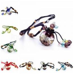 Diffuseur d'huile essentielle pendentif collier plat rond en verre aromathérapie bijoux parfum bouteille pendentif 8 couleurs collier IIA237 ? partir de fabricateur