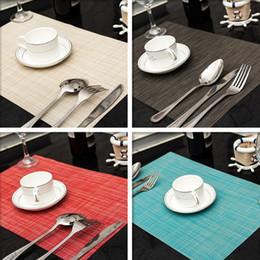 2019 gummi-topfhalter 4 Teile / satz PVC Einfarbig Tischset Esstisch Matten Set De Table Bowl Pad Serviette Esstisch Tablett Matte Untersetzer