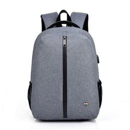 Сумки для девочек для ноутбука онлайн-Laptop Backpack USB Charging 15.6 inch Anti Theft Women Men School Bags For Teenage Girls College Travel Backpack oxford Male