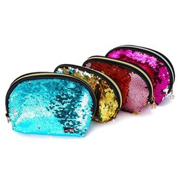 stationery packaging supplies Coupons - New Double-Sided Sequins Pencil Box School Supplies Stationery Zipper Bag Dinner Clutter Cosmetic Bag Multi - Purpose Package