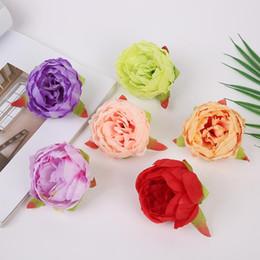 2019 piccoli fiori artificiali artigianali 50pcs capolini di fiore di peonia rosa artificiale piccola testa di fiore di peonia per la decorazione della sfera di nozze fai da te regali artigianali fiori finti piccoli fiori artificiali artigianali economici