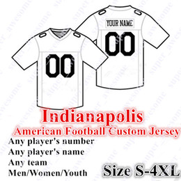 Tamanho 56 camisolas on-line-PERSONALIZADO Indianapolis Jerseys de futebol americano 53 Leonard 56 Nelson 85 Ebron 7 Brissett Jersey Qualquer nome Número Tamanho S- 4XL Homens Mulheres Jovens