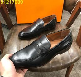 италия 38 Скидка Бренд дизайнер мужские туфли металлические пряжки костюм обувь скольжения на квартиры Оксфорд Италия обуви мокасины Hombre 38-44