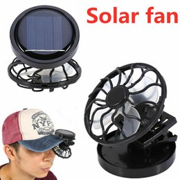 solar panel free shipping Coupons - 2019 New Fashion Gadget Clip-on Hat Mini Clip Solar Sun Energy Power Panel Cell Cooling Usb Fan Cooler Mini Fan Free Shipping