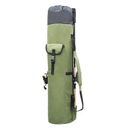 Varas de pesca on-line-Sacos de pesca Portátil Multifuncional De Nylon Vara De Armazenamento De Pesca Caso Carretel De Lona Organizador Viagem Carry Pole Saco De Ferramentas
