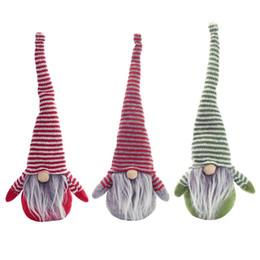 decorazioni natalizie di babbo natale Sconti Bambola senza volto a forma di berretto natalizio Bambolina statuetta Ornamento nordico Gnome Old Man Dolls