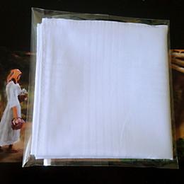 baumwoll-weiße männer taschentücher Rabatt 5 teile / los 100% Baumwolle Solid White Men Taschentuch Exportartikel 40cm * 40cm [Schnelle Lieferung]