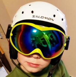 fd748d2508 Niños Gafas de esquí de nieve para niños Niñas Anti niebla Uv400 Lentes  dobles Gafas de snowboard de invierno Googles Skibrille Niños Gafas de esquí