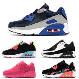 2020 sapatilhas de mola de ar Nike air max 90 2018 Nova Primavera Outono Crianças Sapatos Vermelho Preto Respirável Confortável Clássico Crianças Sneakers Tamanho EUR 28-35 sapatilhas de mola de ar barato