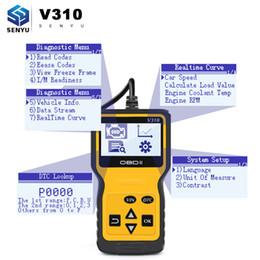 Leitor de código pin automático on-line-Código V310 Leitor OBDII / EOBD Leia VIN Código V1.1 16 pin masculino OBD OBDII ferramenta de diagnóstico Auto Scanner melhor do que ELM327 V1.5