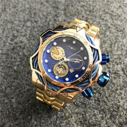 Canada Hot vente de bonne qualité hommes invicta GOLD montre bracelet en acier inoxydable Mens montres montres à quartz relogies pour hommes relojes meilleur cadeau Offre