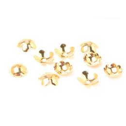 Canada 50 PCS 8.5mm 7.5mm Capsules de perles de fleur Capsules de perles de cuivre en métal de l'or 18K pour la fabrication de bijoux cheap copper bead caps Offre