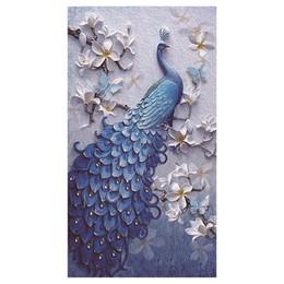 5d pintura diamante por números kits para adultos cheio de diamantes grande pássaro de sorte pavão animal bordado home wall decor suporte atacado de