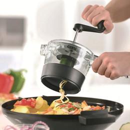 déchiqueteuse trancheuse Promotion Eco-Friendly 4 en 1 réglable en spirale Slicer Râpe fruits légumes Cutter Shredder Rotary Machine de découpe Accessoires de cuisine