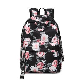 25c8efba2757 Fresh Style Women Backpacks Floral Print Bookbags Canvas Backpack School Bag  For Girls Rucksack Female Travel Backpack BB158