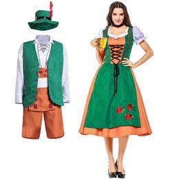 Oktoberfest Costume Homme Femme Traditionnelle Bavaroise Costume Bière Allemande couples
