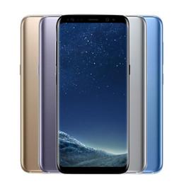 Смартфон 4g lte сотовые телефоны онлайн-Оригинальный 5.8 дюймовый Samsung Galaxy S8 S8 + плюс Octa Core 4 ГБ / 64 ГБ Распознавание лиц Отпечаток пальца 12.0MP 4G LTE Смартфон Восстановленное Сотовые телефоны