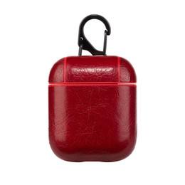 Кожаный Чехол Airpods для Apple Airpods PU Защитная Крышка Мода Анти Потерянный Крючок Застежка Брелок для Стручков Воздуха Airpod Чехол для Телефона от