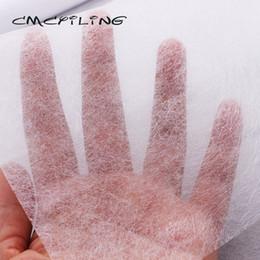 weiße seide tüll perlen Rabatt CMCYILING Futterstoff Doppelseitiges Klebeband DIY Zubehör Tuch Müssen bügeleisen 50cmx110cm verwendet werden