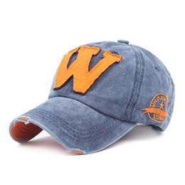 6aa0db83681 Cotton letter embroidery W Patch baseball cap women snapback cap fitted  bone casquette Dad hat for men customize gorro