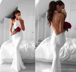 2019 Estilos árabes Sirena blanca Vestido de fiesta Nuevo Largo de espalda abierta Formales días festivos Use Graduación Vestido de fiesta por la noche por encargo más tamaño desde fabricantes