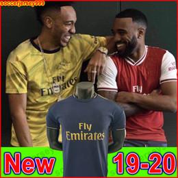 2019 camisa suárez Tailandia Arsenal soccer jersey football shirt camiseta de fútbol 19 20 AUBAMEYANG LACAZETTE 2019 2020 Camiseta Xhaka Özil kit chandal de fútbol uniformes tercera de la camisa suárez baratos