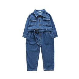 47868128e0 Korean Spring new 2019 kids designer clothes girls Jumpsuit Denim Girls  Trouser kids Jumpsuit Fashion Jeans Casual Pants overall pants A2827 girl  jeans ...