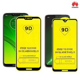 casos 3d para huawei ascender Desconto 9D Huawei Cobertura Completa de Vidro Temperado Curvo Protetor de Tela Do Filme Borda Para P30 Lite P20 Pro Companheiro 20 Y6 Y7 Y9 Y8 V20 Honor 8A Com OPP PACKAG