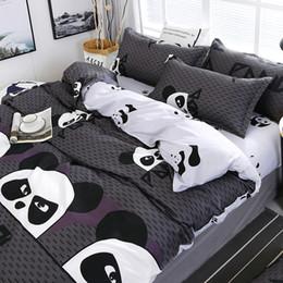 Jacquard chinês cama on-line-Padrão de estilo chinês Panda dos desenhos animados Jogo do fundamento Bed Linings edredon cobrir Folha de cama Fronhas Cover conjunto 4pcs / set 51