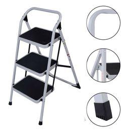 NEW Protable 3 Stufenleiter Folding nicht Beleg Sicherheits Tread Heavy Duty Industrial Home von Fabrikanten