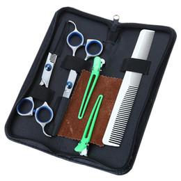 Forbici da parrucchiere Barbiere da taglio per parrucchiere Cesoie per parrucchiere Set per taglio di capelli a lama piatta con taglio regolare da