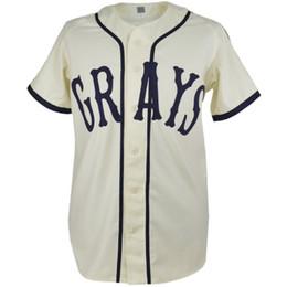 2019 camisetas de béisbol cosidas CUSTOM Josh Gibson Homestead Grays Negro League Béisbol Jersey Nueva 20 puntos Coser Cualquier nombre Cualquier número rebajas camisetas de béisbol cosidas