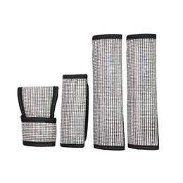 Interior del coche de cristal online-Full Diamond Crystal Auto Handbrake Cover Gear Shifter Seat Belt Cover para niñas Car Styling Decoración interior Accesorios