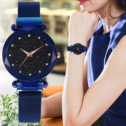 Watches Useful Fashion Thin Belt Rhinestone New Women Rhinestone Watches Lady Dress Women Watch 2018 New Fashion Women Mesh Magnet Buckle A20 Latest Fashion