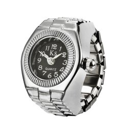 Новые эластичные наручные часы онлайн-New Quartz Finger Ring Watch Ladies Stainless Steel Elastic Watches for Men Women Girl Clock Silver Gift Dropshipping