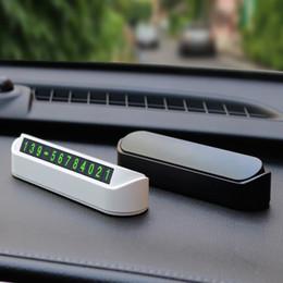 Carro temporária Estacionamento cartão de telefone do cartão do número da placa Número de Telefone Parque de estacionamento Pare Automobile Acessórios Car-styling de