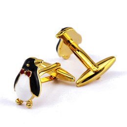 Pingouin doré Boutons de manchette Cuivrage Hommes et femmes Chemises françaises Boutons de manchette Chemise Bouton de manchette Bijoux pour hommes ? partir de fabricateur