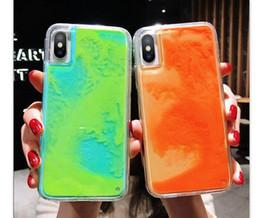 Неоновые ноты онлайн-Для Samsung Note 10 Pro M20 M10 Z4 Z3 Z2 S10 E S9 S8 Plus Note9 8 Текучая неоновая песочная жидкость для всего тела с приподнятой заглушкой на лицевой панели