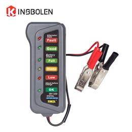 Analisador de motocicletas on-line-Carro Digital Battery Alternador para 12 V 6 LED Light Battery Tester 12 Volf Automotive / Motocicleta Analyzer verificar BST100
