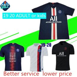 kit de venta al por mayor Rebajas 19 20 psg camiseta de fútbol 2019 2020 mbappe Camisetas de fútbol CAVANI PSG survetement maillot de foot customiz