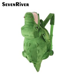 school toy bag for boys Promo Codes - Cute 3D Animal Children Kids School Bag For 3-6 Years Baby Boys Girls Plush Crocodile Toy Cartoon Backpack