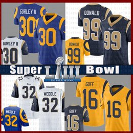 fußball jerseys farbe Rabatt 99 Aaron Donald Football Jersey St.louis 30 Todd Gurley Rams 16 Jared Goff 32 Eric Weddle Trikots Farbe Rausch